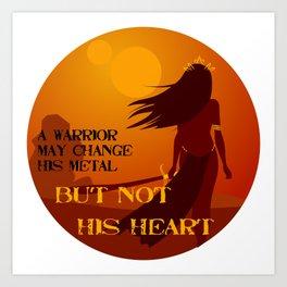 his heart Art Print
