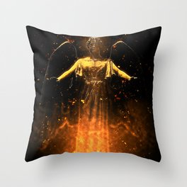 Rise From the Flames Throw Pillow
