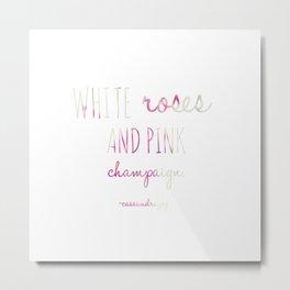 Pink Champaign Metal Print