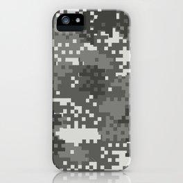 Pixel Urban Army Camo Pattern iPhone Case