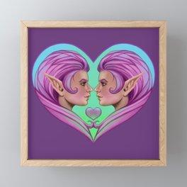 Elf - Love Framed Mini Art Print