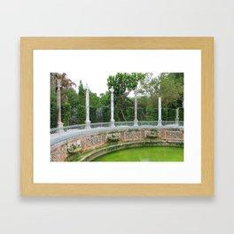 Vizcaya Garden Framed Art Print