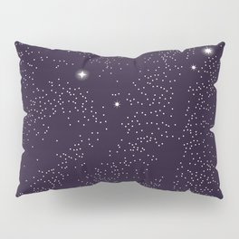 Universe with planets and stars seamless pattern, cosmos starry night sky 005 Pillow Sham