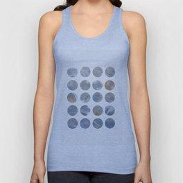 Pastel Blue Dots Unisex Tank Top