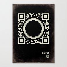 QR zero Canvas Print