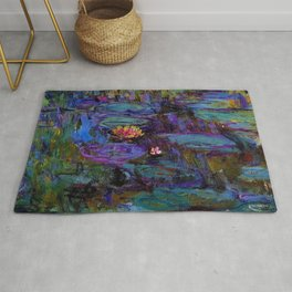 Water Lilies by Claude Monet Rug