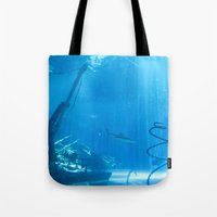 wreck it ralph Tote Bags featuring Wreck by NelsonAU