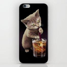 CAT LOVES SODA iPhone Skin