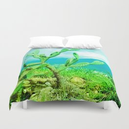 Hostility and coldness. Duvet Cover