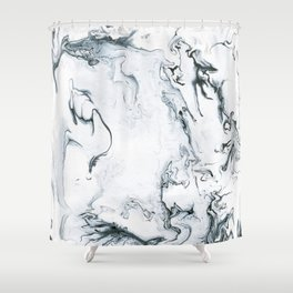 light side Shower Curtain
