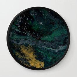Abstract Fluid Acrylic Painting Turquoise II Wall Clock