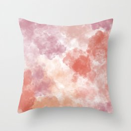 Pastel watercolor clouds Throw Pillow