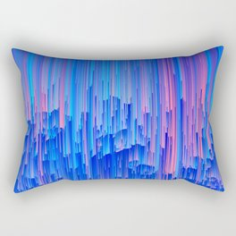 Glitchy Rain - Abstract Pixel Art Rectangular Pillow
