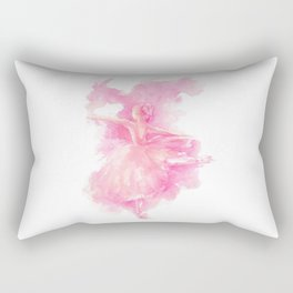 Ballerina in pink Rectangular Pillow