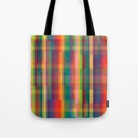 cracked Tote Bags featuring Cracked by datavis/pwowk