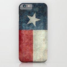 Texas state flag, vintage banner iPhone 6 Slim Case