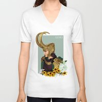 loki V-neck T-shirts featuring Loki by tsunami-sand