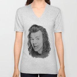 Portrait of Harry Styles Unisex V-Neck