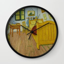 The Bedroom by Vincent van Gogh Wall Clock