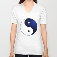 ying yang V-neck T-shirts featuring Ying Yang by Timeless-Id
