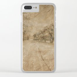 Snow in April Clear iPhone Case