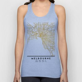 MELBOURNE AUSTRALIA CITY STREET MAP ART Unisex Tank Top