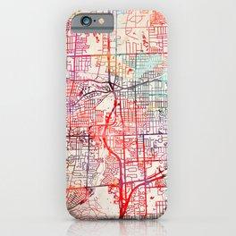 Lombard map Illinois IL iPhone Case