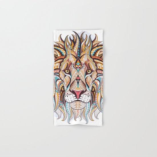 Brown Ethnic Lion Hand & Bath Towel