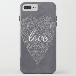 Love Heart Design {Black Version} iPhone Case