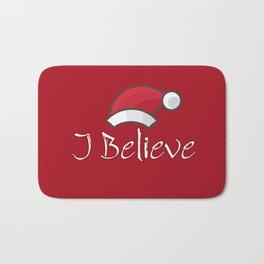 I Believe In Santa Claus #society6 #decor #buyart #artprint Bath Mat