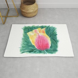Tropical Tulip by Teresa Thompson Rug