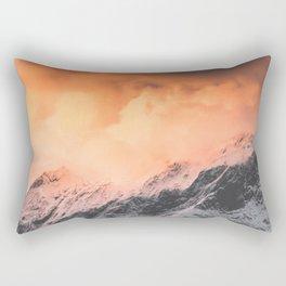 Sunset over Mount Aspiring Rectangular Pillow