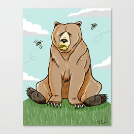 Sticky Bear Canvas Print