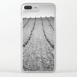 Vineyards. Foggy Sunrise Clear iPhone Case