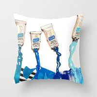 blues Throw Pillows featuring Blues by ST STUDIO