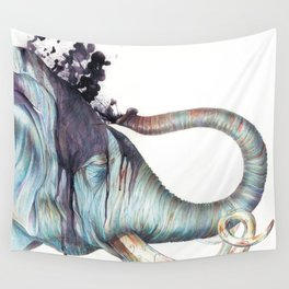 Elephant Shower Wall Tapestry