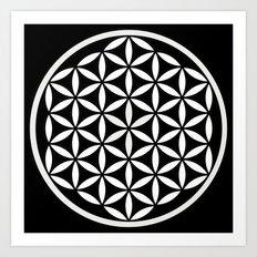 Flower of Life Yin Yang Art Print
