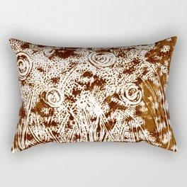 Night Garden Burned Umbra Rectangular Pillow