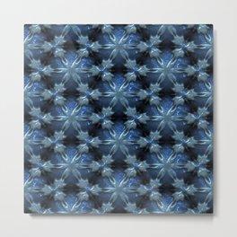 Relief Pattern 01 blue Metal Print