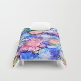 Alcohol Ink Flower Pattern Comforters