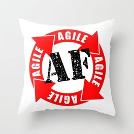 Agile AF Throw Pillow