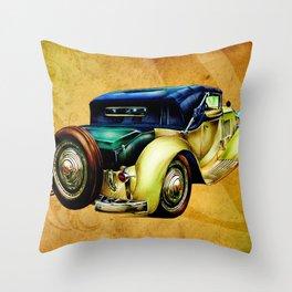 Vintage automobile retro fineart Throw Pillow