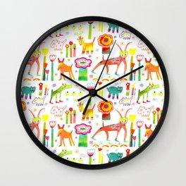 Animal Garden Wall Clock