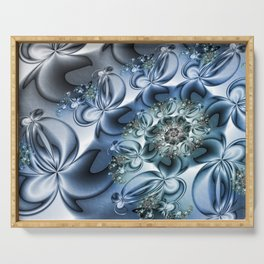 Dynamic Spiral, Abstract Fractal Art Serving Tray
