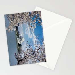 Thomas Jefferson Memorial with Cherry Blossoms  Stationery Cards