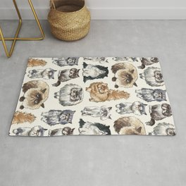Disappointed Cats Rug