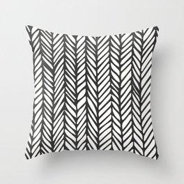 Black Threads Throw Pillow
