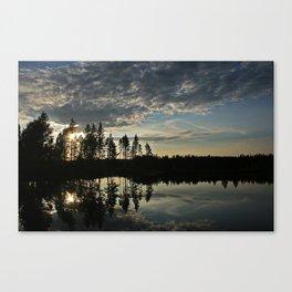 Symmetrical Pine Valley  Canvas Print
