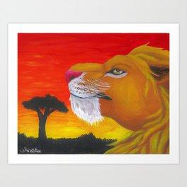 Lion Box Art Print