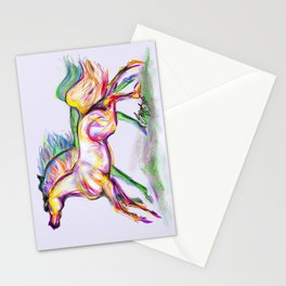 Crayon Bright Horses Stationery Cards